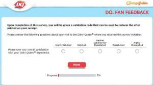 Dairy Queen Fan Survey