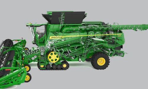 john deere x9 1000 combine engine