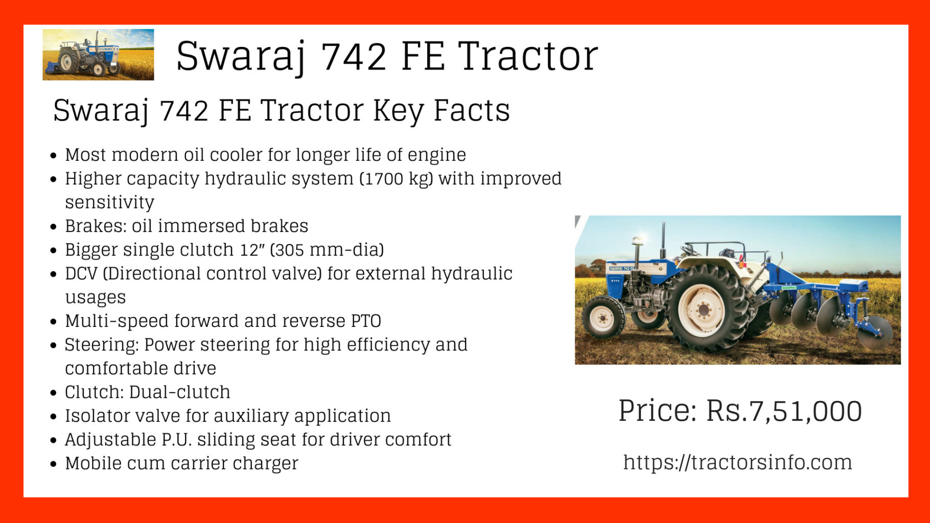 hight resolution of swaraj 742 fe tractor