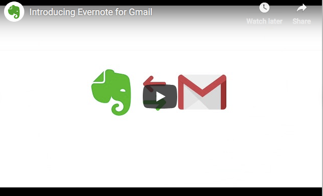 Introduction to Evernote for Gmail video on YouTube