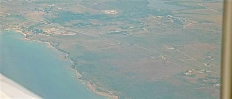 Countryside near Havana from the airplane window