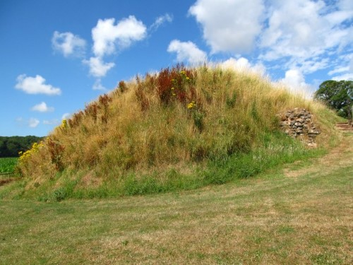 An earth mound is all that remains of Caerwent's Norman castle