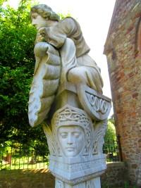 The grave of the tragic Gwyneth Morgan in St Basil's graveyard