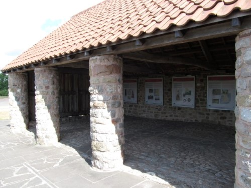The interpretation boards at Caerwent