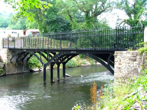 The restored Iron Bridge over the River Rhymney