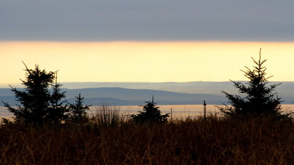 Looking across the Bristol Channel to England
