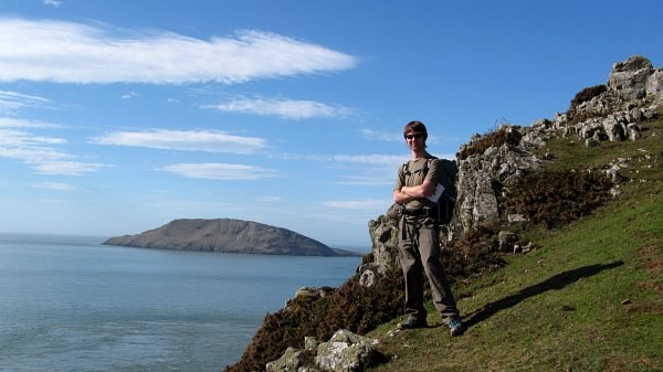 A tough stretch of the Wales Coast Path with Bardsey beyond