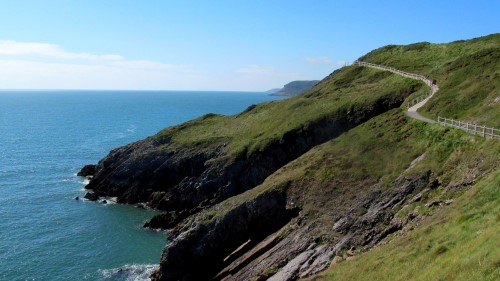 Walking the coast path near the Mumbles