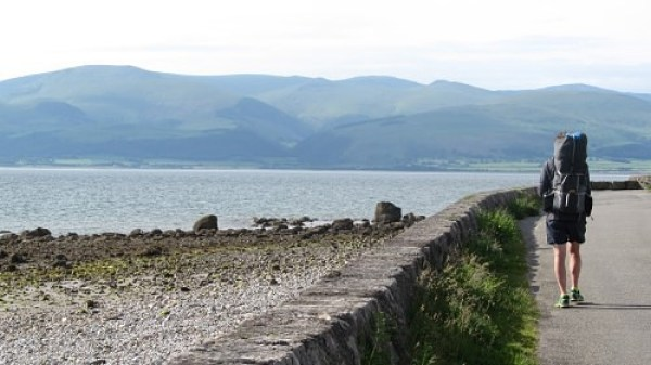 Heading west towards Beaumaris on the Anglesey Coast Path