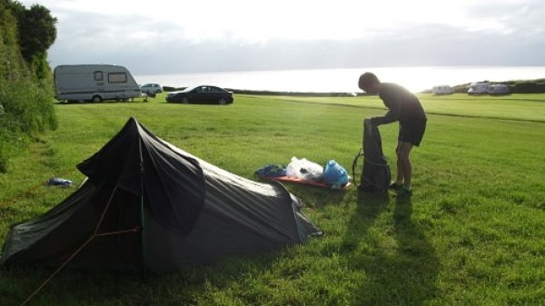Packing up at Moelfre