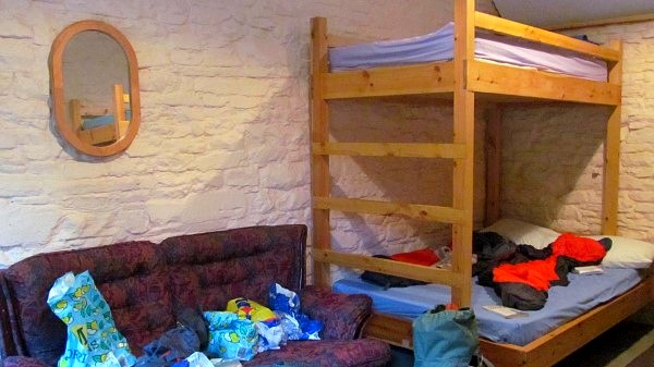 Our Llanthony bunkhouse room... so much comfier than our tiny tent
