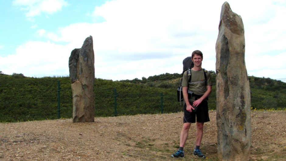 Two menhirs remain in situ