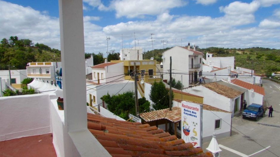 Looking down on Cachopo from our terrace