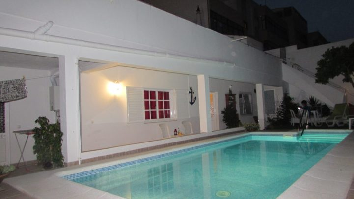 Our gorgeous apartment overlooked Casa Claudia's courtyard pool
