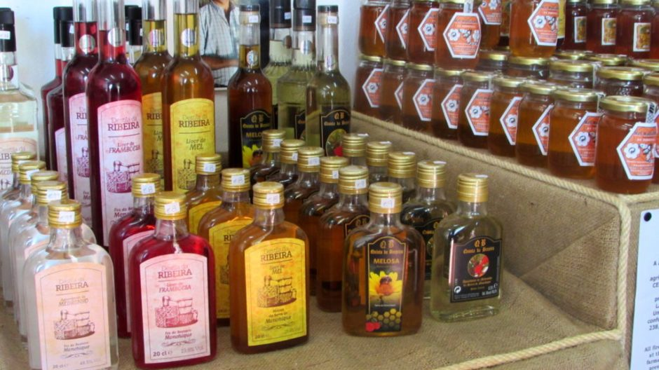 There was plenty to choose from in the medronho shop