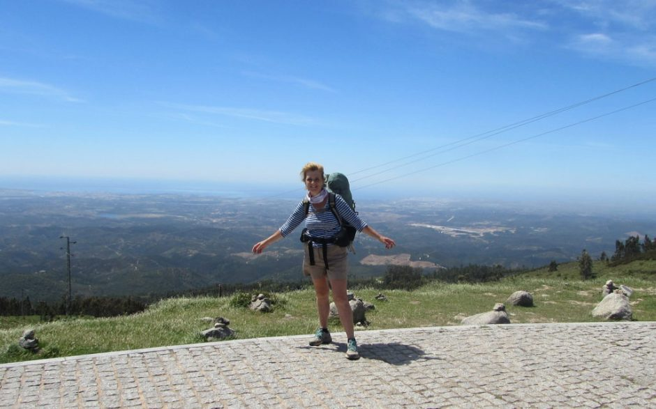 Standing on the highest point of the Algarve