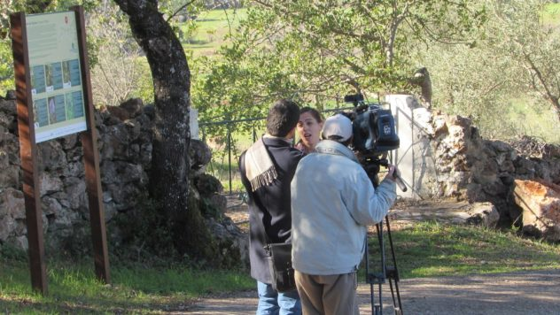 Anabela, co-ordinator of the Via Algarviana, is interviewed by RTP
