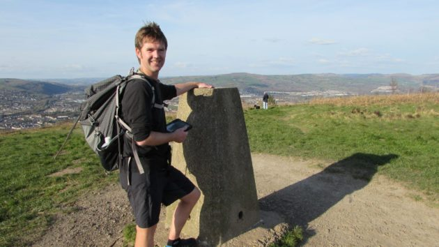 Our fifth summit of the day - Caerphilly mountain