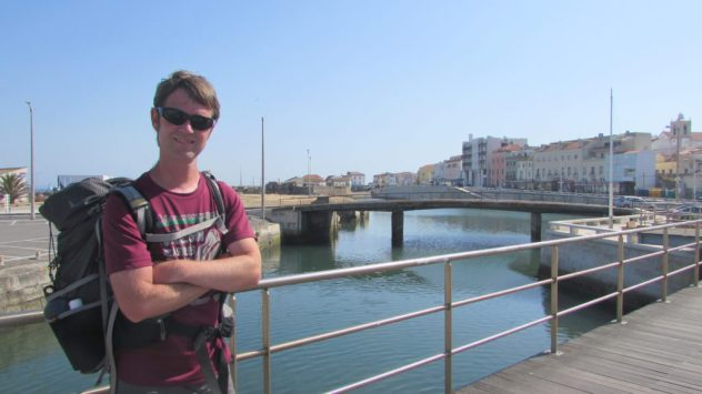 Outdoor writer Harri Garrod Roberts in Peniche, on Portugal's Silver Coast