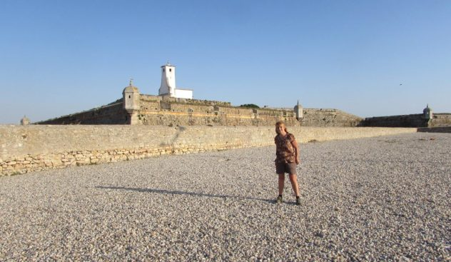 Tracy Burton (the Walker's Wife) wanders around the imposing walls of the Fortaleza de Peniche on Portugal's Silver Coast