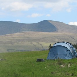 Camping near en y Fan and Corn Du in the Brecon Beacons National Park, South Wales, UK