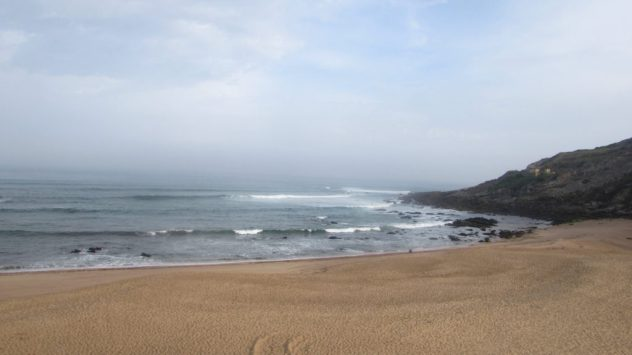 Sea mist obscures the horizon at Porto Novo
