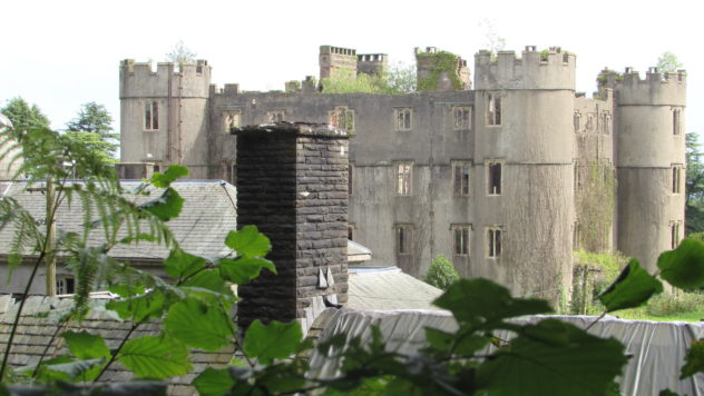 Ruperra Castle, first mock castle in Wales,