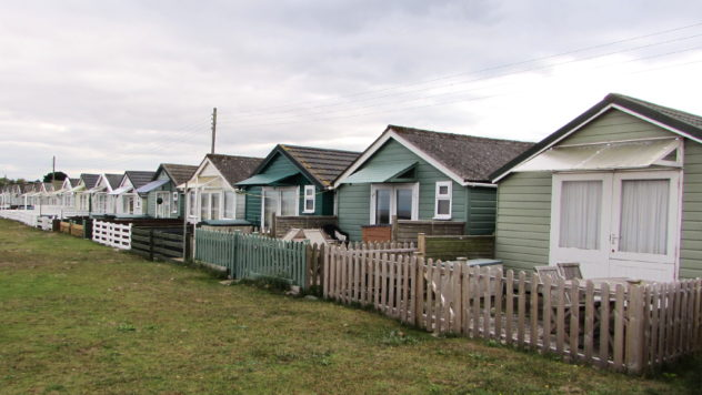 Dunster beach huts, Somerset, UK