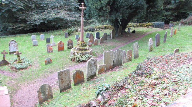 Graveyard at Culbone Church, Exmoor National Park, Devon