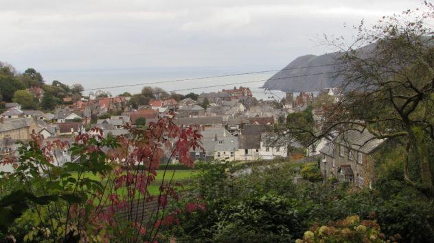 Lynmouth from Lynton, Devon, Exmoor National Park
