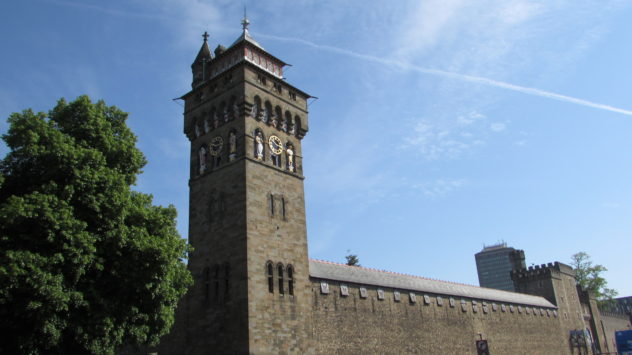 The Clock Tower, Cardiff Castle, Cardiff, South Wales, UK