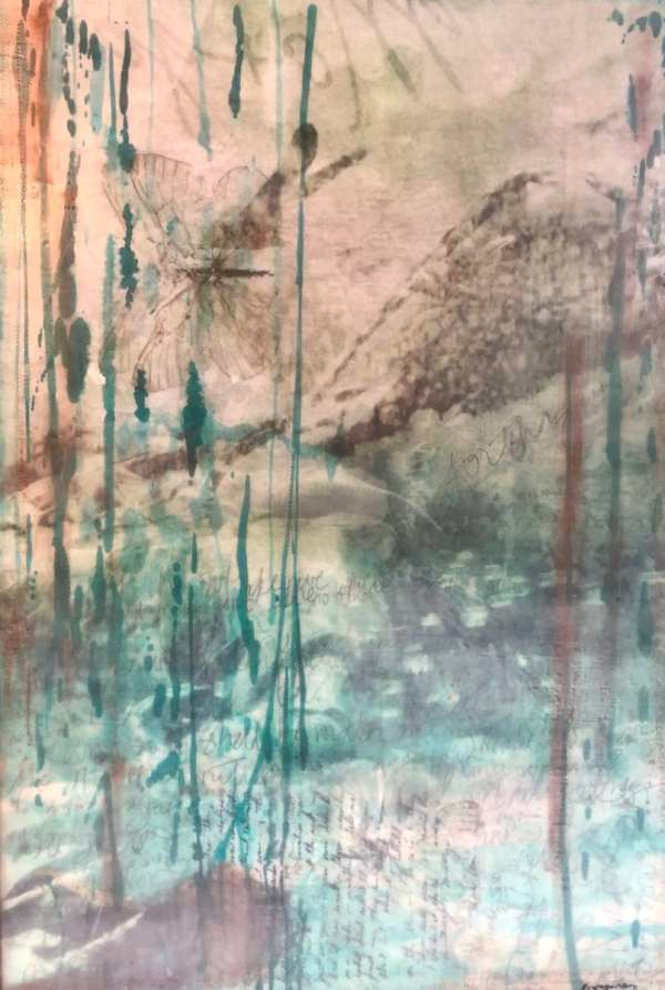 Tales From The Front scaled Tracy Casagrande Clancy Encaustic Mixed Media