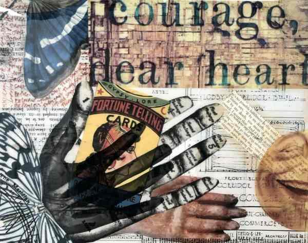 Courage Dear Heart scaled Tracy Casagrande Clancy Encaustic Mixed Media