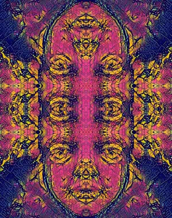 Many faces 2 1 Tracy Casagrande Clancy Encaustic Mixed Media