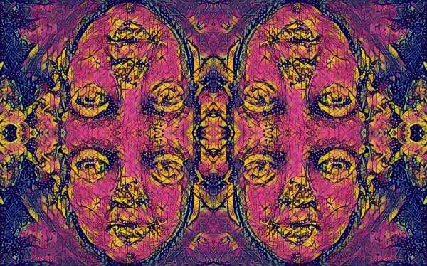 Many faces 3 1 Tracy Casagrande Clancy Encaustic Mixed Media