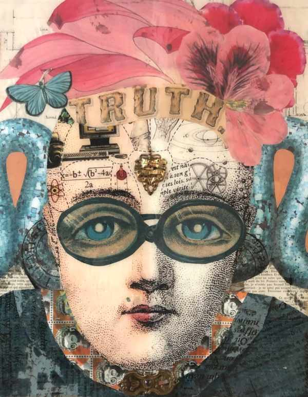 Mirror of Truth set of 3 2 scaled Tracy Casagrande Clancy Encaustic Mixed Media