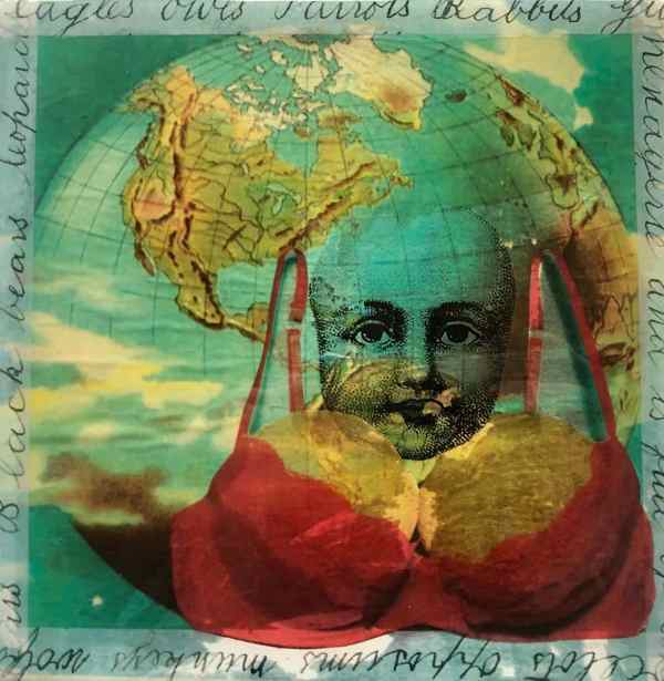 My Minds Elsewhere scaled Tracy Casagrande Clancy Encaustic Mixed Media