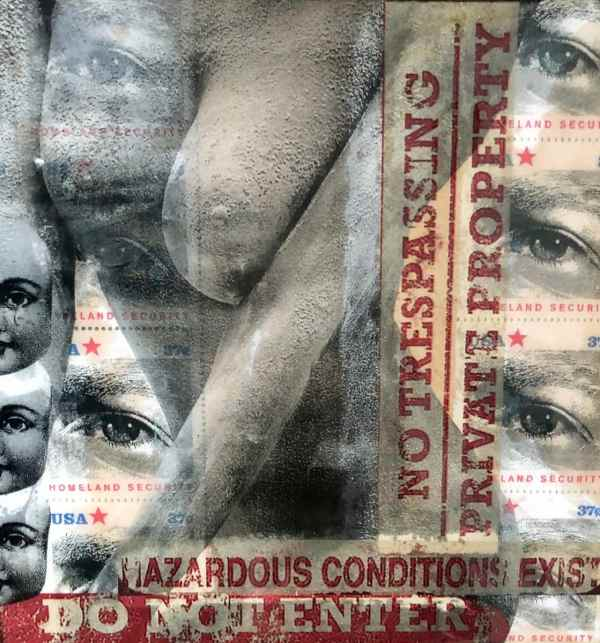Proceed With Caution scaled Tracy Casagrande Clancy Encaustic Mixed Media