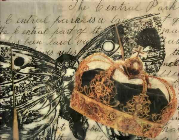 You Should See Me In A Crown scaled Tracy Casagrande Clancy Encaustic Mixed Media