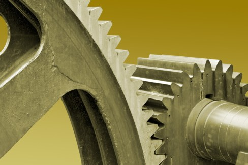 old large gears