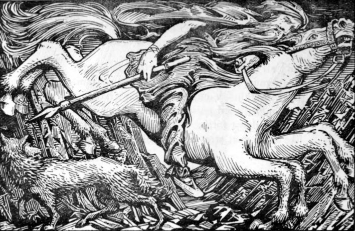 Odin's Ride to Hel by W.G. Collingwood