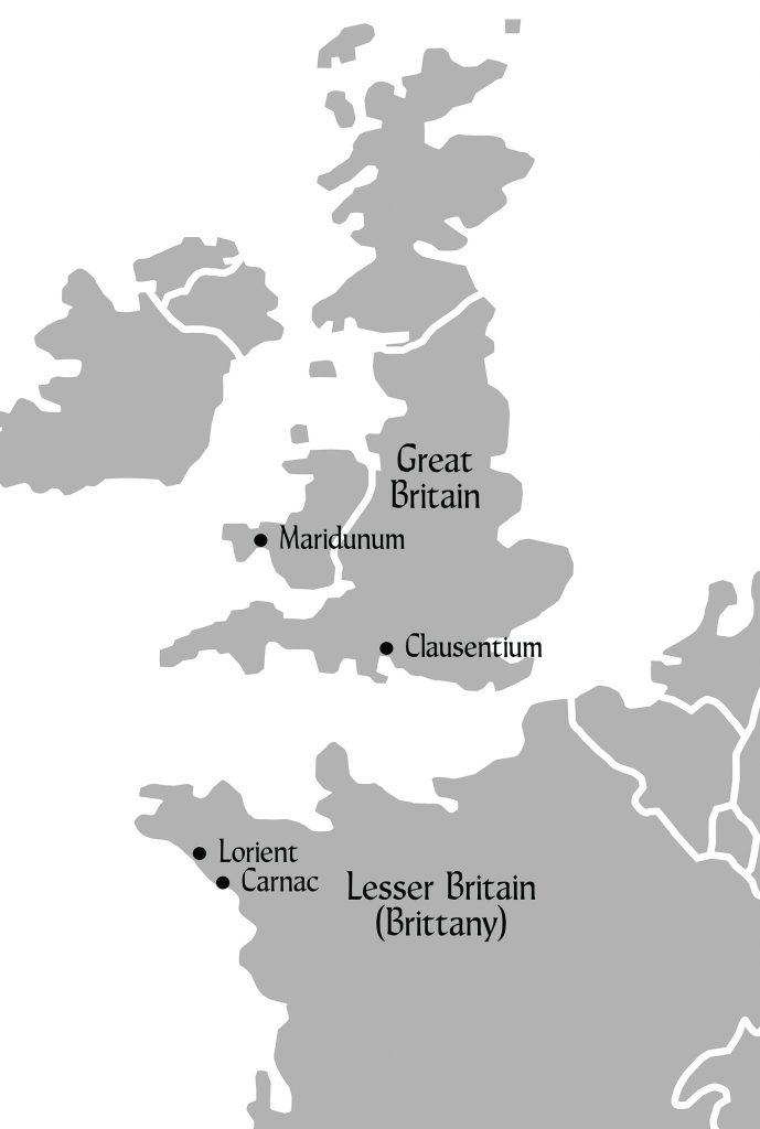 Map of Western Europe at the time of DRAGON KIN