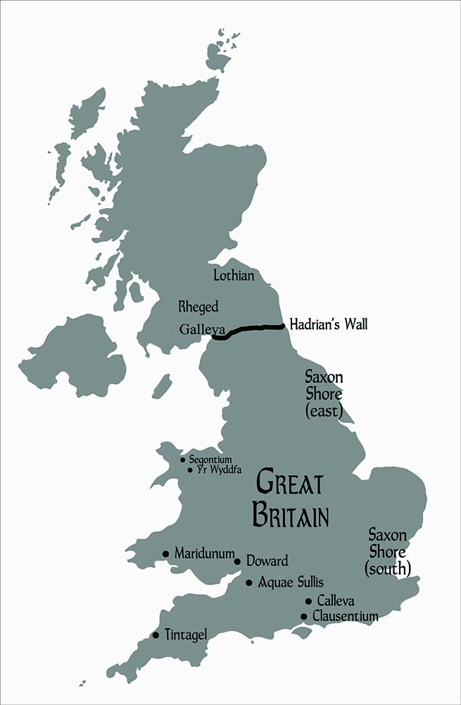Map of Britain at the time of WAR DUKE OF BRITAIN