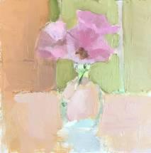 pink lisianthus in vase