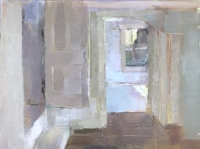 "room within a room (Kuerner Farm), 12x16"" (sold)"
