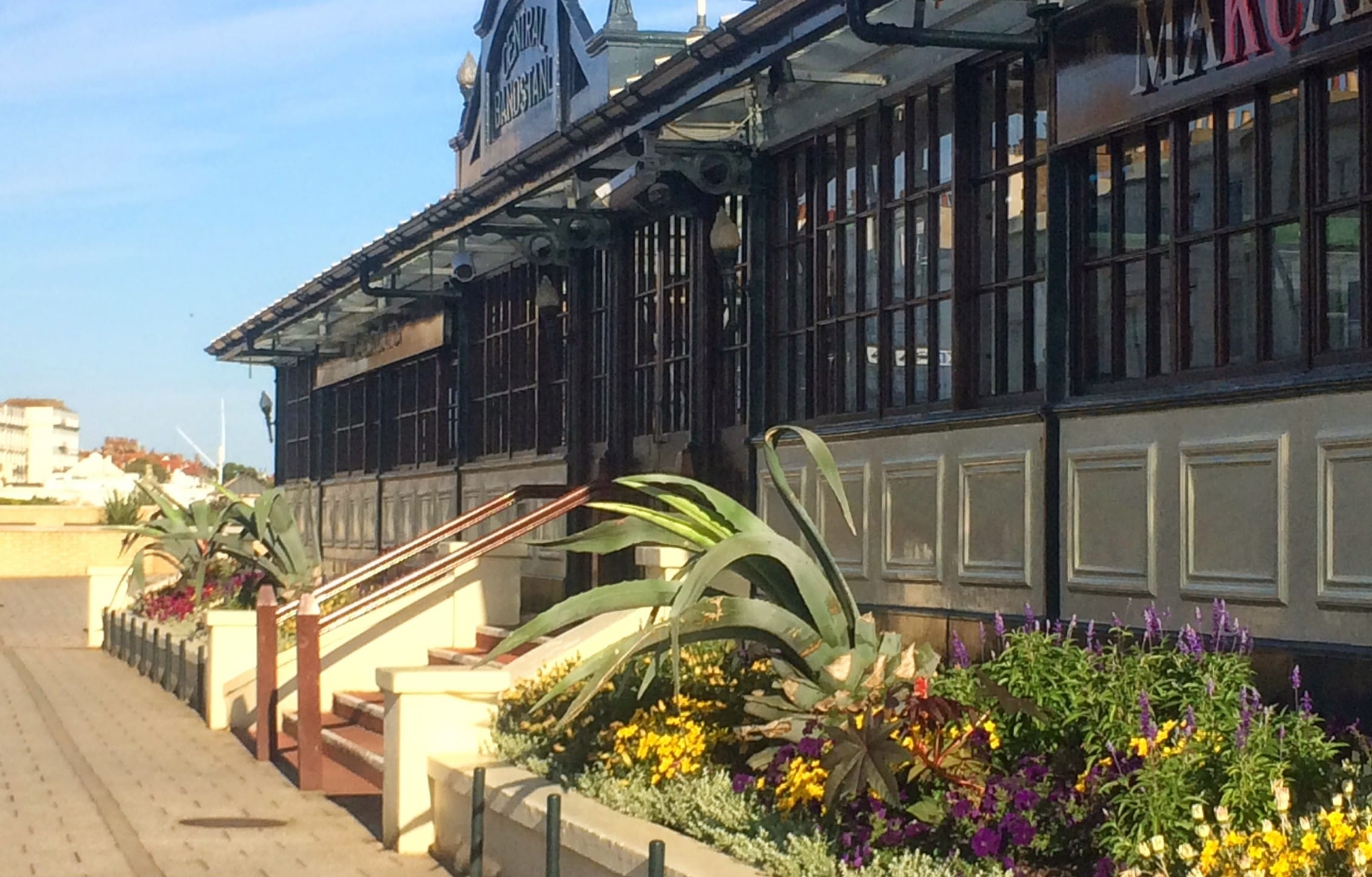 Our wonderfully restored bandstand.