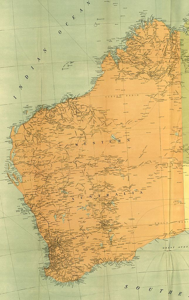 """From the map """"Commonwealth of Australia"""", published with the Official Year Book of the Commonwealth of Australia, Melbourne: McCarron, Bird and Co., 1916."""