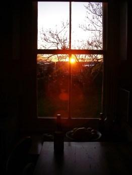 Sunset, kitchen window