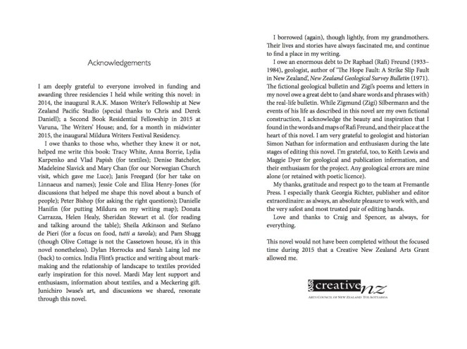 The Hope Fault - Acknowledgements (1)