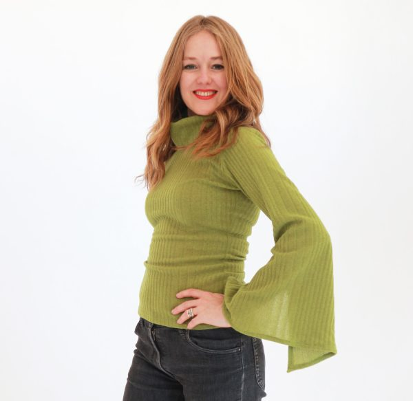 Tracy Gold Collection Chartreuse sweater 2